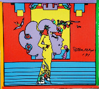 Atlantis Suite of 4 Mixed Media Prints Unique, 1971  Embellished Limited Edition Print by Peter Max - 0