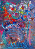 Flower Abstract  1989 30x20 Original Painting by Peter Max - 0