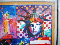 God Bless America II 2001 39x33 Works on Paper (not prints) by Peter Max - 3