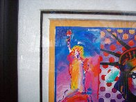 God Bless America II 2001 39x33 Works on Paper (not prints) by Peter Max - 4