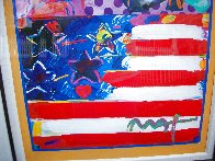God Bless America II 2001 39x33 Works on Paper (not prints) by Peter Max - 6