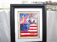 God Bless America II 2001 39x33 Works on Paper (not prints) by Peter Max - 1