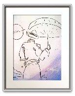 Umbrella Man Watercolor 1990 24x20 Watercolor by Peter Max - 1
