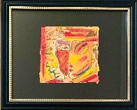 Profile 1988 12x18 Original Painting by Peter Max - 1