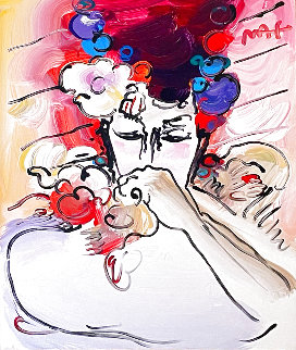 Susan  1982 24x19 Original Painting - Peter Max