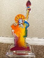 Statue of Liberty IX Acrylic Sculpture Unique 2017 12 in Sculpture by Peter Max - 6