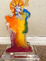 Statue of Liberty IX Acrylic Sculpture Unique 2017 12 in Sculpture by Peter Max - 5