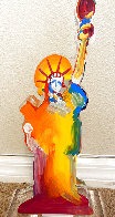Statue of Liberty IX Acrylic Sculpture Unique 2017 12 in Sculpture by Peter Max - 1