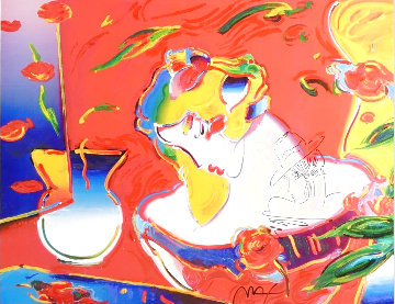 Woman in Love Unique 2000 35x41 Super Huge Works on Paper (not prints) - Peter Max
