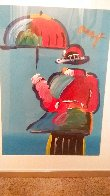 Umbrella Man Unique 43x33  Huge Works on Paper (not prints) by Peter Max - 3