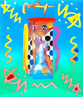 Statue of Liberty 20x17 Works on Paper (not prints) - Peter Max