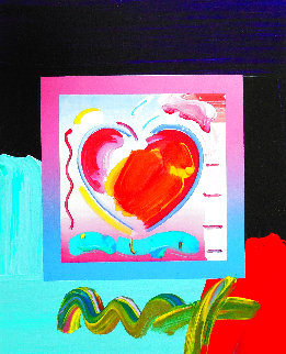 Heart On Blends Unique 2008 14x11 Works on Paper (not prints) - Peter Max