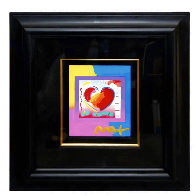 Heart on Blends Unique 2006 23x21 Works on Paper (not prints) by Peter Max - 1