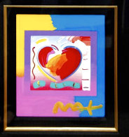 Heart on Blends Unique 2006 23x21 Works on Paper (not prints) by Peter Max - 2