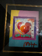 Heart on Blends Unique 2006 23x21 Works on Paper (not prints) by Peter Max - 3