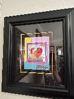 Heart on Blends Unique 2006 23x21 Works on Paper (not prints) by Peter Max - 4