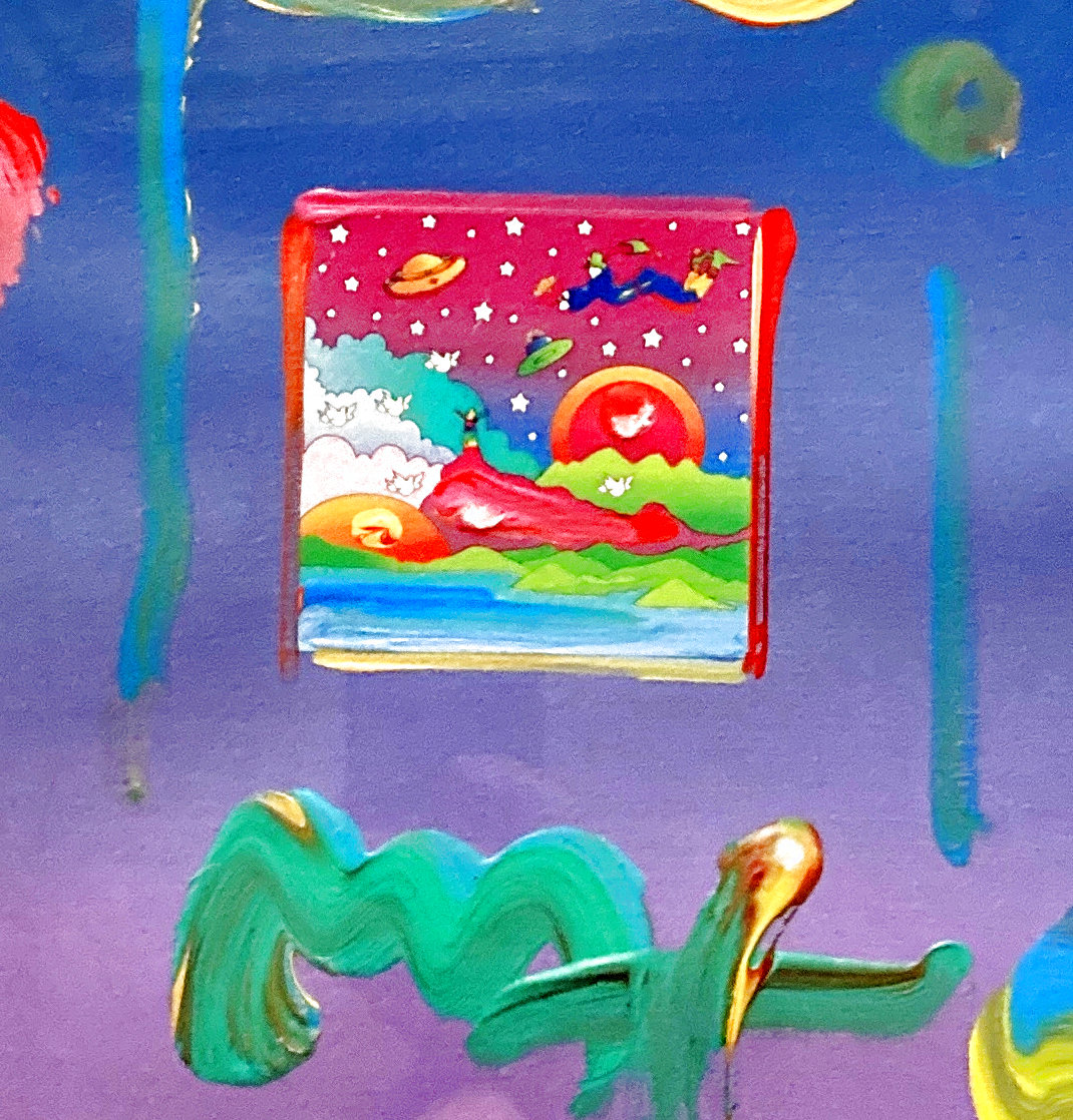 Cosmic Sunrise Unique 2005 24x21 Works on Paper (not prints) by Peter Max