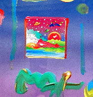 Cosmic Sunrise Unique 2005 24x21 Works on Paper (not prints) by Peter Max - 0