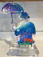 Umbrella Man Ver. III Acrylic Sculpture Unique 2017 12 in Sculpture by Peter Max - 4