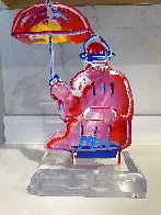 Umbrella Man Ver. III Acrylic Sculpture Unique 2017 12 in Sculpture by Peter Max - 0