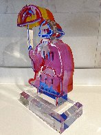 Umbrella Man Ver. III Acrylic Sculpture Unique 2017 12 in Sculpture by Peter Max - 1
