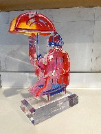 Umbrella Man Ver. III Acrylic Sculpture Unique 2017 12 in Sculpture by Peter Max - 2