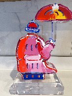 Umbrella Man Ver. III Acrylic Sculpture Unique 2017 12 in Sculpture by Peter Max - 3