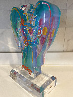 Acrylic Angel With Heart Sculpture Unique 2017 12 in Sculpture by Peter Max - 2