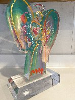 Acrylic Angel With Heart Sculpture Unique 2017 12 in Sculpture by Peter Max - 3