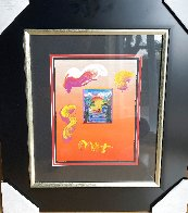 Sailing Into the Sunset Unique 2019 24x20 Works on Paper (not prints) by Peter Max - 1