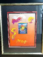 Sailing Into the Sunset Unique 2019 24x20 Works on Paper (not prints) by Peter Max - 2