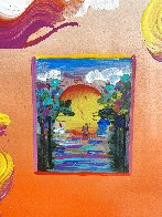 Sailing Into the Sunset Unique 2019 24x20 Works on Paper (not prints) by Peter Max - 4