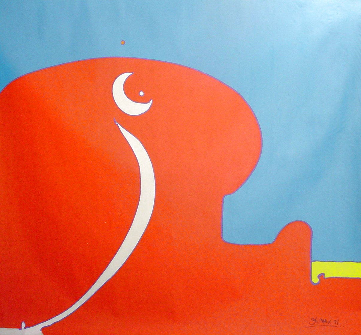 Abstract II Vintage Acrylic 96x108 in 1970 Super Huge Original Painting by Peter Max