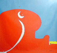 Abstract II Vintage Acrylic 96x108 in 1970 Super Huge Original Painting by Peter Max - 0