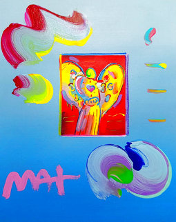 Angel With Heart Unique 2019 22x19 Works on Paper (not prints) - Peter Max