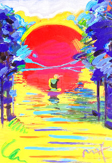 Better World Unique 2007 45x33  Huge Works on Paper (not prints) - Peter Max