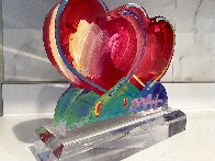 Two Hearts Acrylic Sculpture 2017 12 in Sculpture by Peter Max - 3