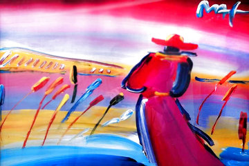 Walking in Reeds Unique 1999 29x36 Huge Works on Paper (not prints) - Peter Max