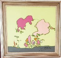 Hidden Profile 1971 24x24 Original Painting by Peter Max - 1