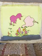 Hidden Profile 1971 24x24 Original Painting by Peter Max - 2
