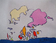 Hidden Profile I 1971 24x24 Original Painting by Peter Max - 2
