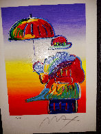 Umbrella Man 2015 Limited Edition Print by Peter Max - 3