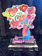 Vase of Flowers Unique Acrylic Sculpture 2016  12 in Sculpture by Peter Max - 1