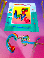 Love 1 Unique 2007 21x17 Works on Paper (not prints) by Peter Max - 2