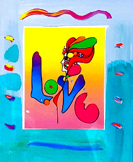 Love 1 Unique 2007 21x17 Works on Paper (not prints) - Peter Max