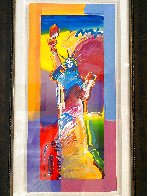 Statue of Liberty Unique 2015 37x20 Works on Paper (not prints) by Peter Max - 3