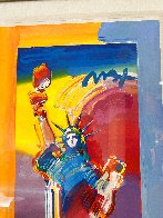 Statue of Liberty Unique 2015 37x20 Works on Paper (not prints) by Peter Max - 5