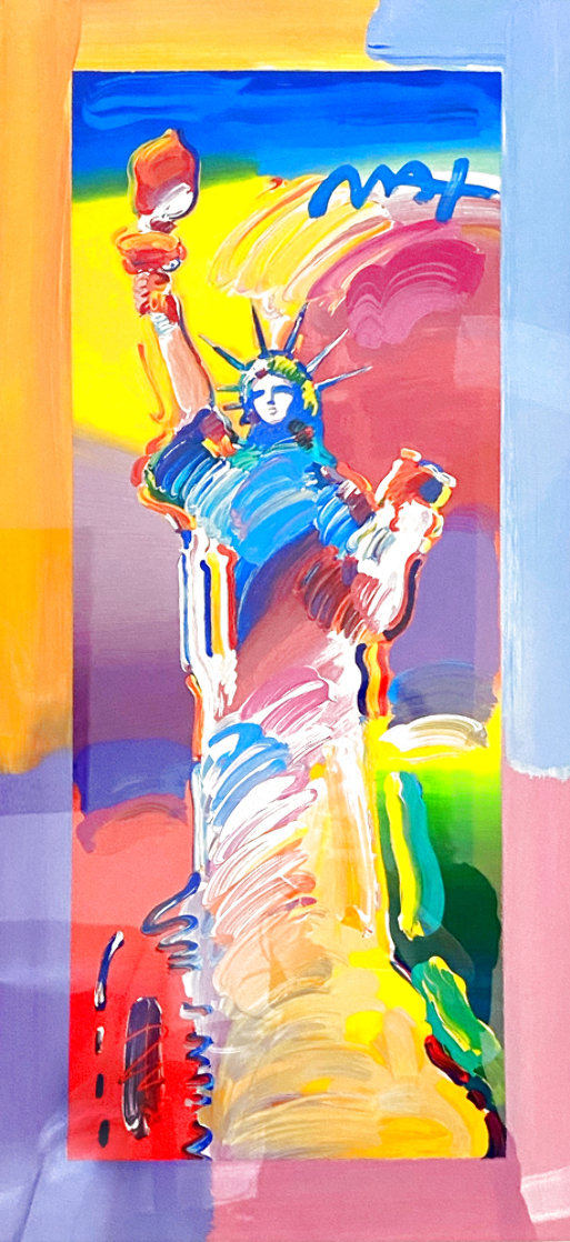 Statue of Liberty Unique 2015 37x20 Works on Paper (not prints) by Peter Max