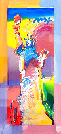 Statue of Liberty Unique 2015 37x20 Works on Paper (not prints) by Peter Max - 0