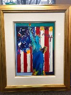 United We Stand II 38x32 Works on Paper (not prints) by Peter Max - 1
